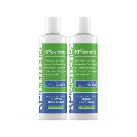 KP Elements Keratosis Pilaris Body Scrub Treatments, 8 fl oz. each, 2 Pack - All-Natural, Soothing, Healing Ingredients