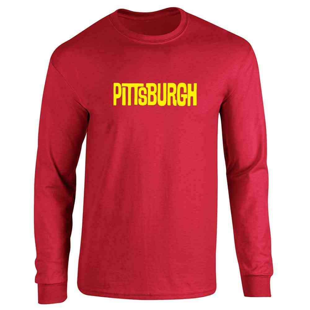 Pittsburgh Retro Vintage Travel Full Long Sleeve Tee T-Shirt