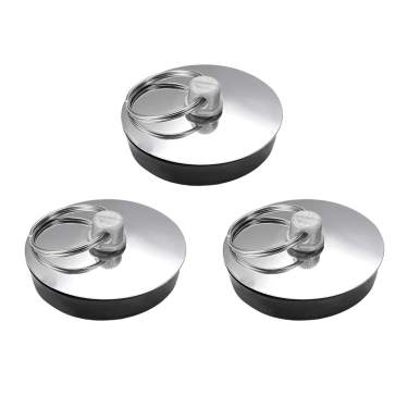 Rubber Sink Plug Drain Stopper Fit 55-57mm with Ring for Bathtub Kitchen 3Pcs
