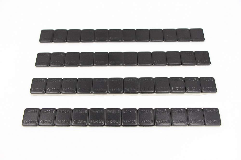 ACCRETION 1/4 Oz Black Lead Free Adhesive Backed Wheel Weights (12 Oz Pack)