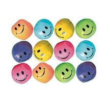 Soft Smiley Balls | Party Favor | 12 Ct.