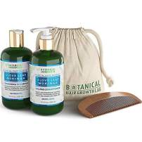 BOTANICAL HAIR GROWTH LAB - Shampoo and Conditioner Gift Set - Clove Leaf Moringa - Essential Hair Recovery - Scalp Balancing / Revitalizing - For Hair Loss Prevention Alopecia Postpartum DHT Blocker