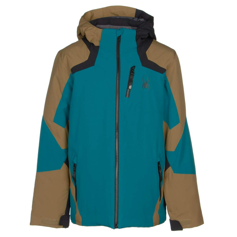 Spyder Boys Leader Jacket – Kids Full Zip Hooded Outdoor Winter Coat