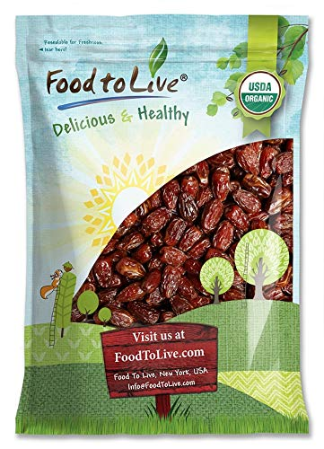 Organic Medjool Dates, 5 Pounds - Non-GMO, Raw, Vegan