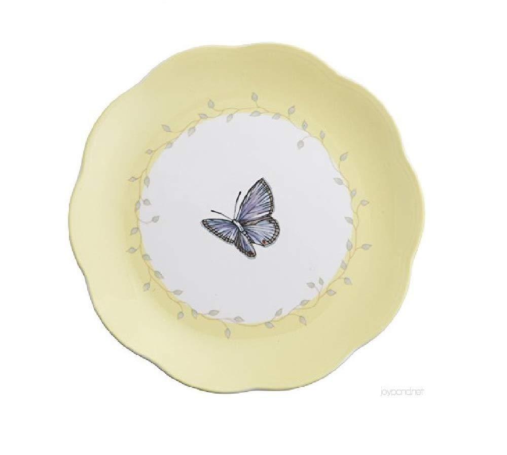 Lenox Butterfly Meadow Blue Butterfly Dessert Plate, Yellow
