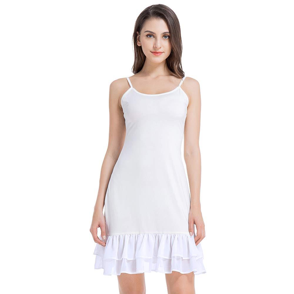 Full Slip Dress Extender for Women Under Spaghetti Strap Lace Cami