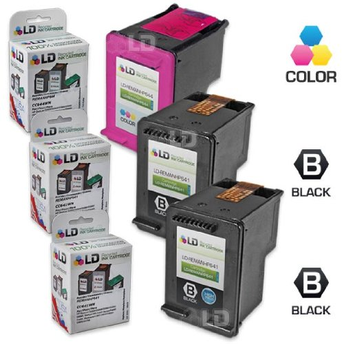 LD Remanufactured Ink Cartridge Replacement for HP 60XL High Yield (2 Black, 1 Color, 3-Pack)