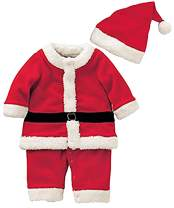 Baby Boys Girls Santa Claus Suit Kids Christmas Halloween Costume Cosplay Set