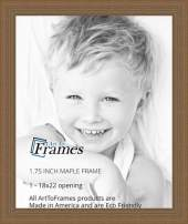 ArtToFrames 18x22 inch Maple Grain Distressed Frame Wood Picture Frame, WOM82223-104-18x22