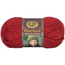 Lion Brand Yarn 137-113 Heartland Thick and Quick Yarn, Redwood