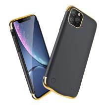 Anyos Battery Case for iPhone 11 Pro Max, 6200mAh Portable Protective Charging Case Extended Rechargeable Battery Pack Charger Case (6.5 inch), Black