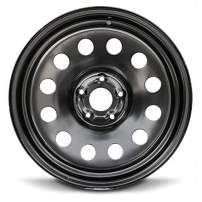 Road Ready Car Wheel for 2011-2019 Dodge Ram1500 20 Inch 5 Lug Black Steel Rim Fits R20 Tire - Exact OEM Replacement - Full-Size Spare
