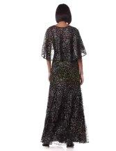 Adrianna Papell Women's Glitter Velvet Gown Set 2pcs