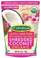 Let's Do...Organic Lightly Sweetened Shredded Coconut, 6 Ounce Pouches (Pack of 12)