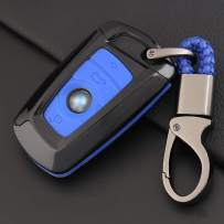 ontto Key Fob Cover Car Key Shell Silicone case Keychain Remote Key Protector Fit for BMW 1 3 4 5 6 7 Series X3 X4 M2 M3 M4 M5 M6 Blue …