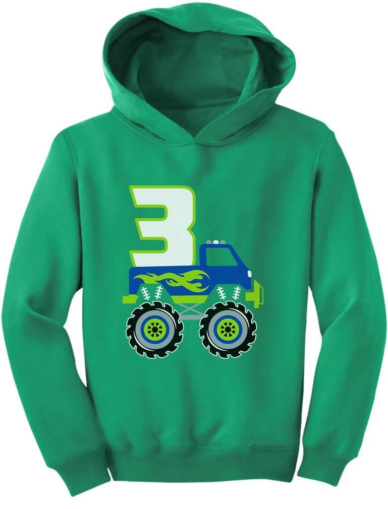 Tstars 3rd Birthday Gift for Boys 3 Year Old Boy Truck Birthday Toddler Hoodie
