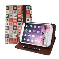 Emartbuy Universal 7 Inch - 8 Inch Gadgets Multi Angle Folio Wallet Case Cover with Card Slots and Stylus Pen Compatible with Selected Devices Listed Below