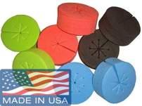 Cz Garden Supply Cloning Collars Inserts Premium Grade Foam Better Than Neoprene for Hydroponics Plant Germination in DIY Cloner & Clone Machines (fits 2 inch net pots, Black)