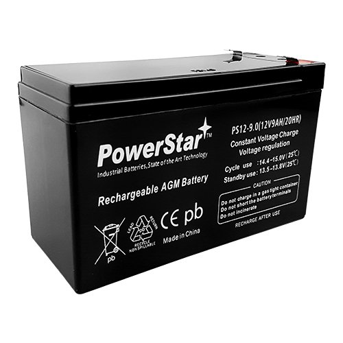 PowerStar PS12-9.0 12V 9AH Sealed Lead Acid AGM Battery Maintenance Free