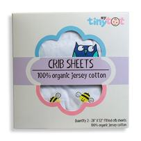 My Tiny Tot Baby Crib Sheets Boy or Girl (2 Pack) – Organic Cotton Fitted Crib Sheet Set for Baby Crib Mattress – Extra Soft, Premium Baby Nursery Bedding – Owl