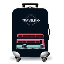 WUJIAONIAO Travel Luggage Cover Baggage Suitcase Protector Fit for 18-32 Inch Luggage (M (for 22-24 inch luggage), TRAVELING)