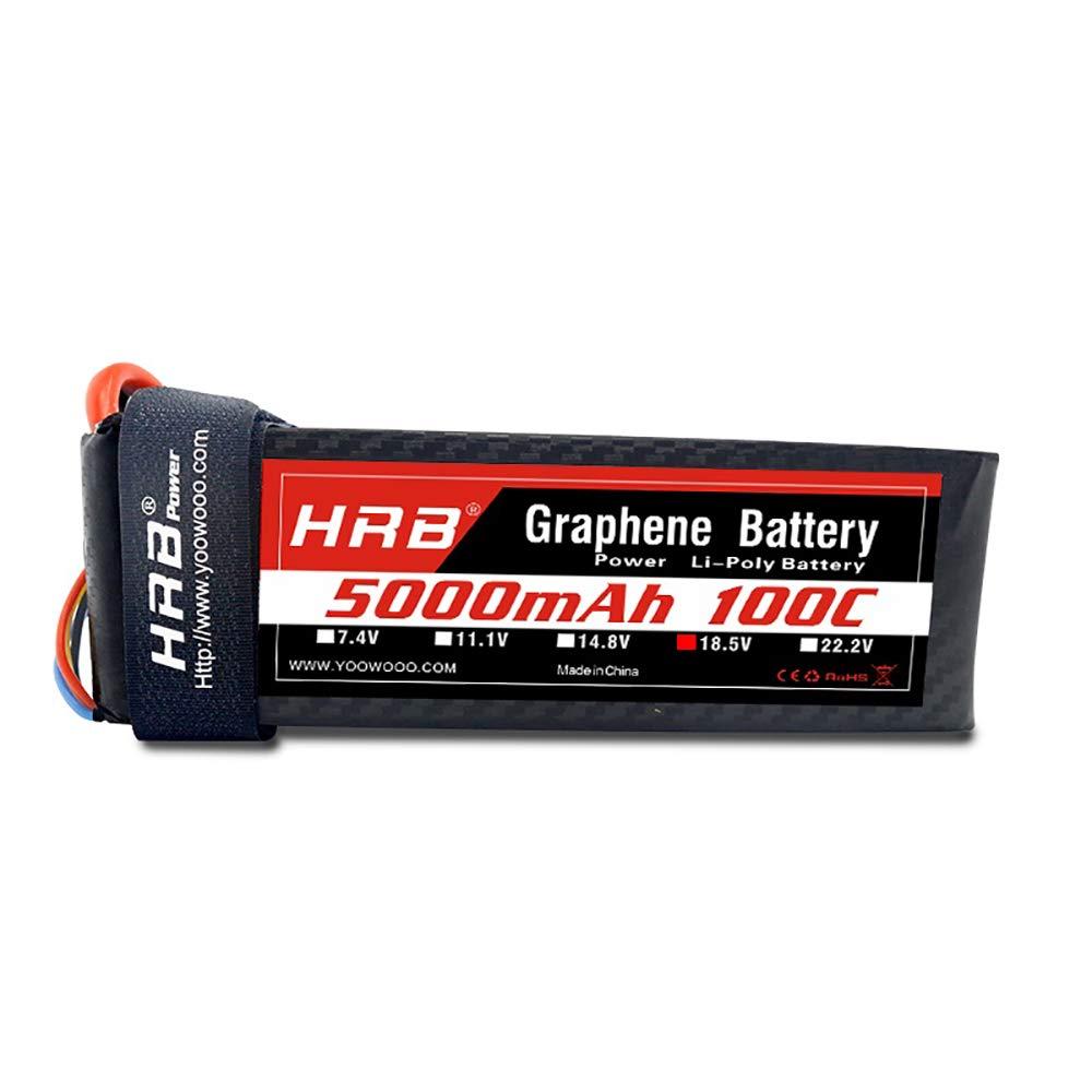 HRB Graphene Battery 5S 18.5V 5000mAh 100C Graphene Lipo Battery Pack with XT90 Plug for Mikado LOGO500 Align T-REX550 600 GAUI X5 Outrage 550 Hirobo SDX