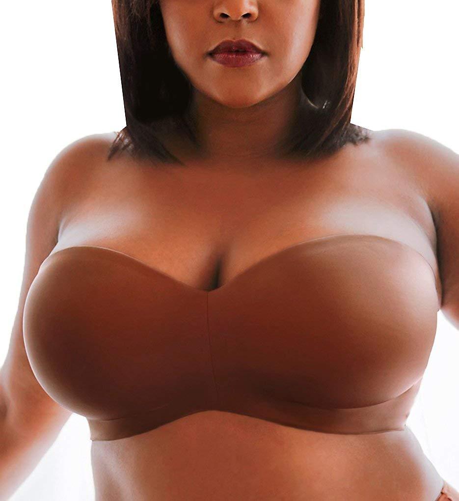 Curvy Couture Women's Plus Size Smooth Strapless Multi-Way Bra