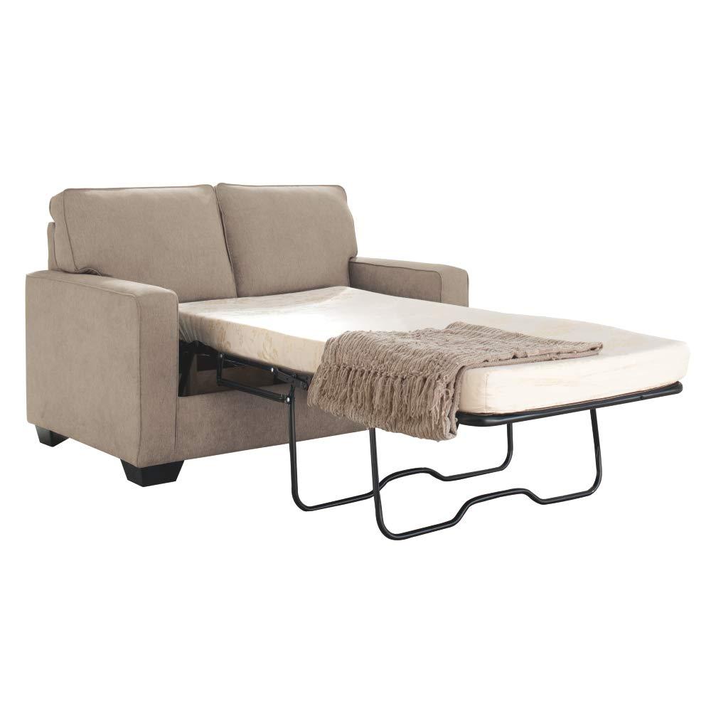Signature Design by Ashley - Zeb Twin Size Mattress Contemporary Sleeper Sofa, Quartz