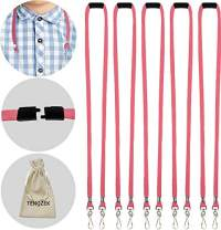 """5pcs Kids/Adults Breakaway Lanyard, Face Màsc Lanyards with Safety Breakaway Clasp - M Size Ear Saver Holder with Swivel J Clips for Child Size FaceMàscs - 18"""" Length(5pcs, Rose Red)"""