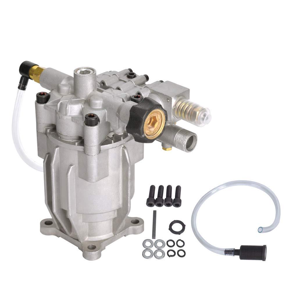 "SurmountWay 3200PSI Pressure Washer Pump Horizontal 3/4"" Shaft Replacement Power Washer Pump 2.4 GPM for 309515003,308418007, K2400HH (Horizontal)"