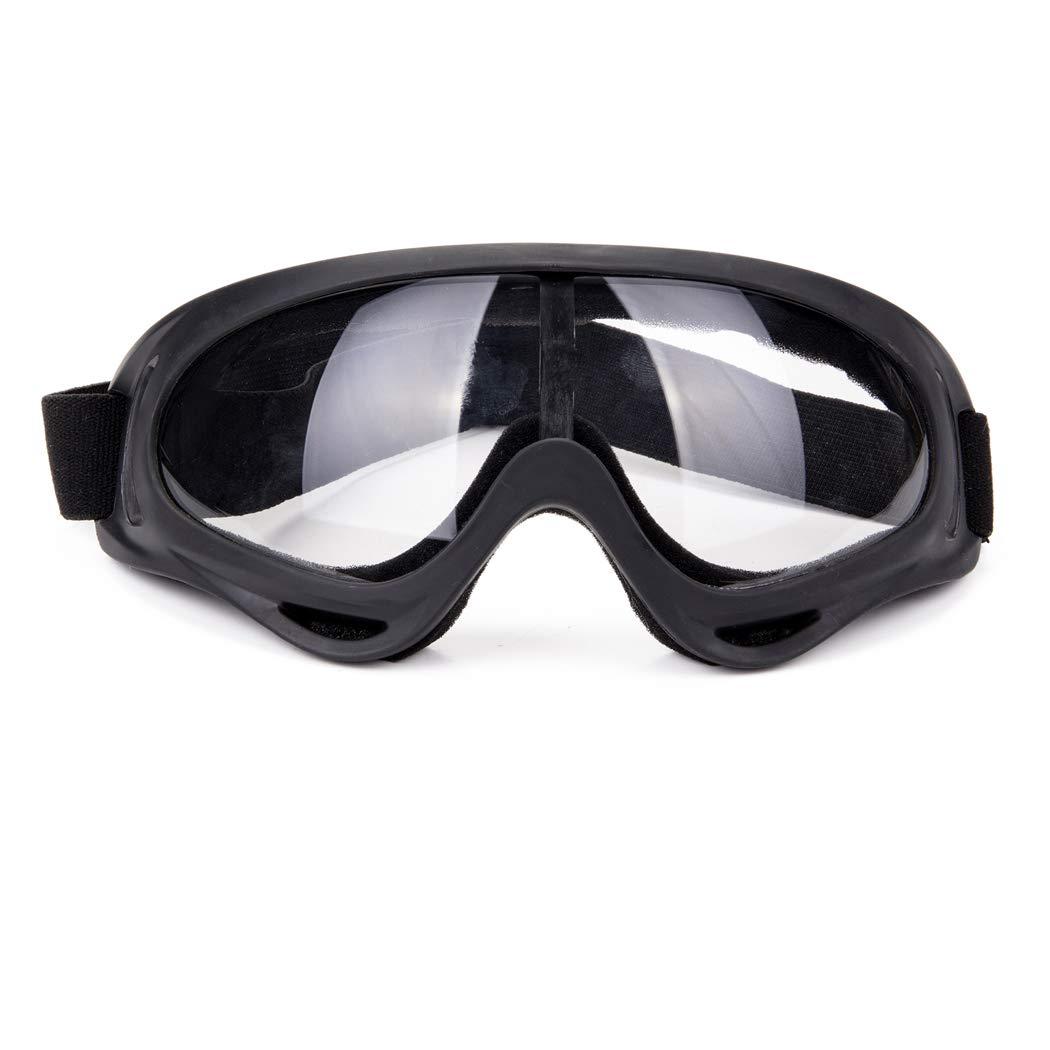 Unisex Pilot Motorcycle Goggles Ski Snowboard Anti-UV Anti-fog Protect Safety Glasses
