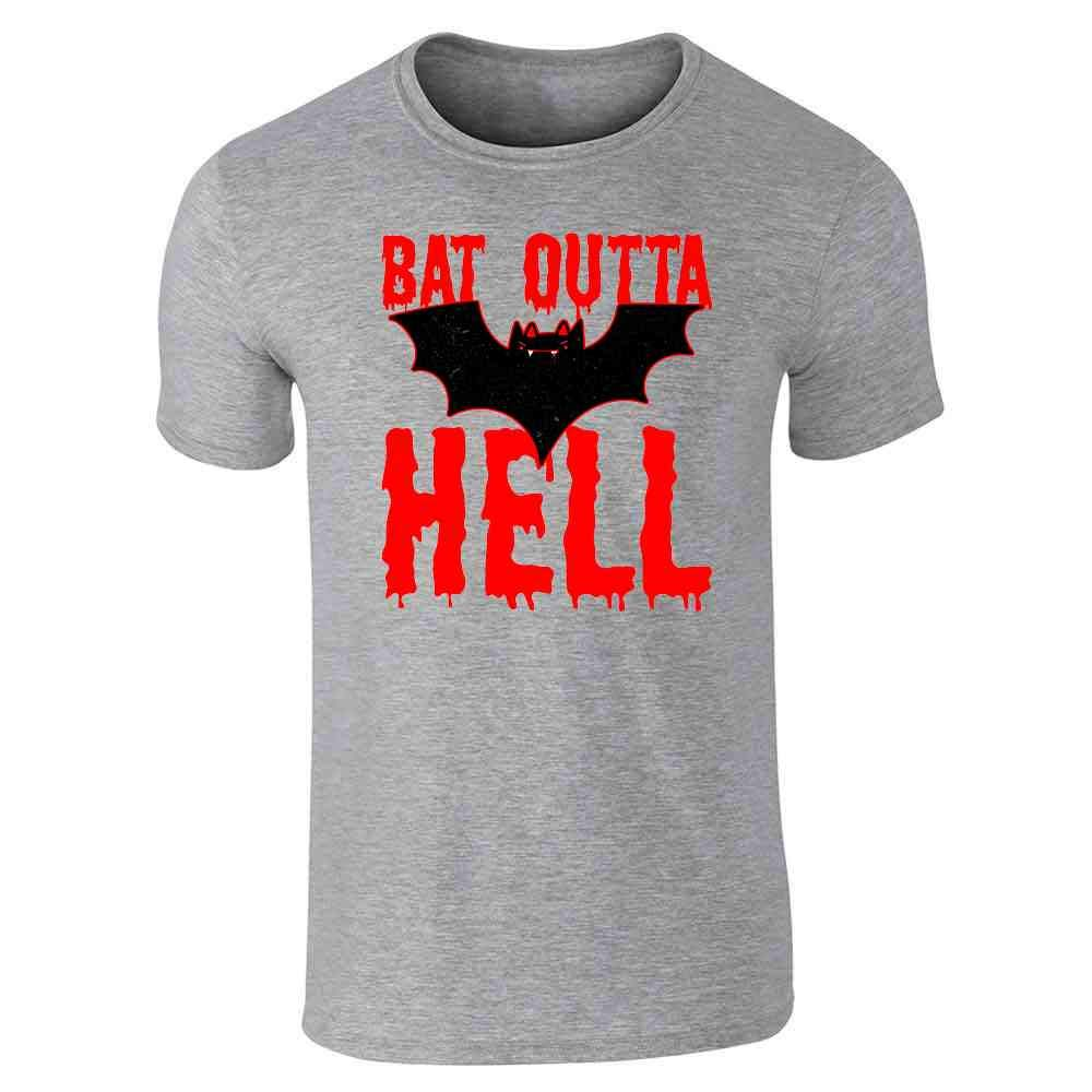 Pop Threads Bat Outta Hell Horror Halloween Costume Graphic Tee T-Shirt for Men