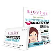 Biovène Teeth Whitening Smile Mask,14 strips (1 Pack)-With Activated Charcoal & Coconut Oil, Vegan Friendly