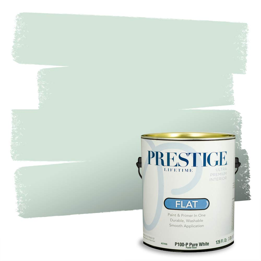 Prestige, Greens and Aquas 4 of 9, Interior Paint and Primer In One, 1-Gallon, Flat, Winter Sage