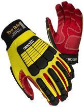 Cestus Tow Grip SC-L Palm Impact Glove, Cotton, Large/10, Yellow, Pair
