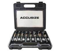 Accusize Industrial Tools 8 Pc M35 (H.S.S.+5% Cobalt) 1/2'' Shank S and D Drill 9/16'' to 1'', H516-6507
