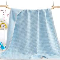 UOMNY Toddler Baby Blanket - Crib Comforter Baby Crib Quilts for Boys and Girls 39x55 Inch Cotton 1 Pack Baby Blanket Baby Quilt Nursery Bed Blanket Lightweight Blanket Toddler Comforter Square Blue