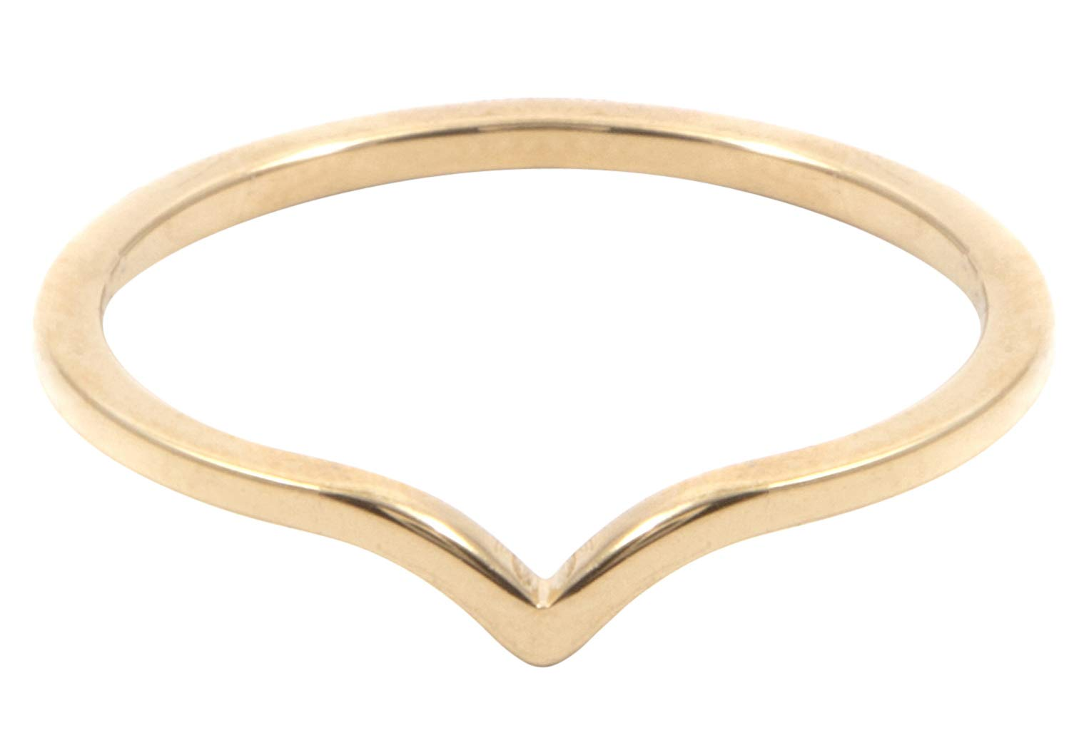 Happiness Boutique Women Curve Ring in Gold Color Delicate Minimalist Ring Stainless Steel