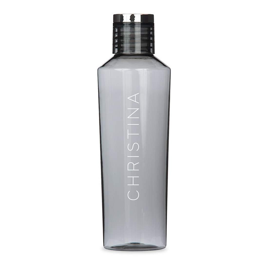Weddingstar Personalized Tritan Plastic Water Bottle 27oz – Reusable Customizable Eco-Friendly Plastic Water Bottle – 100% BPA-Free Environmentally Friendly Canteen - Vertical Print Charcoal