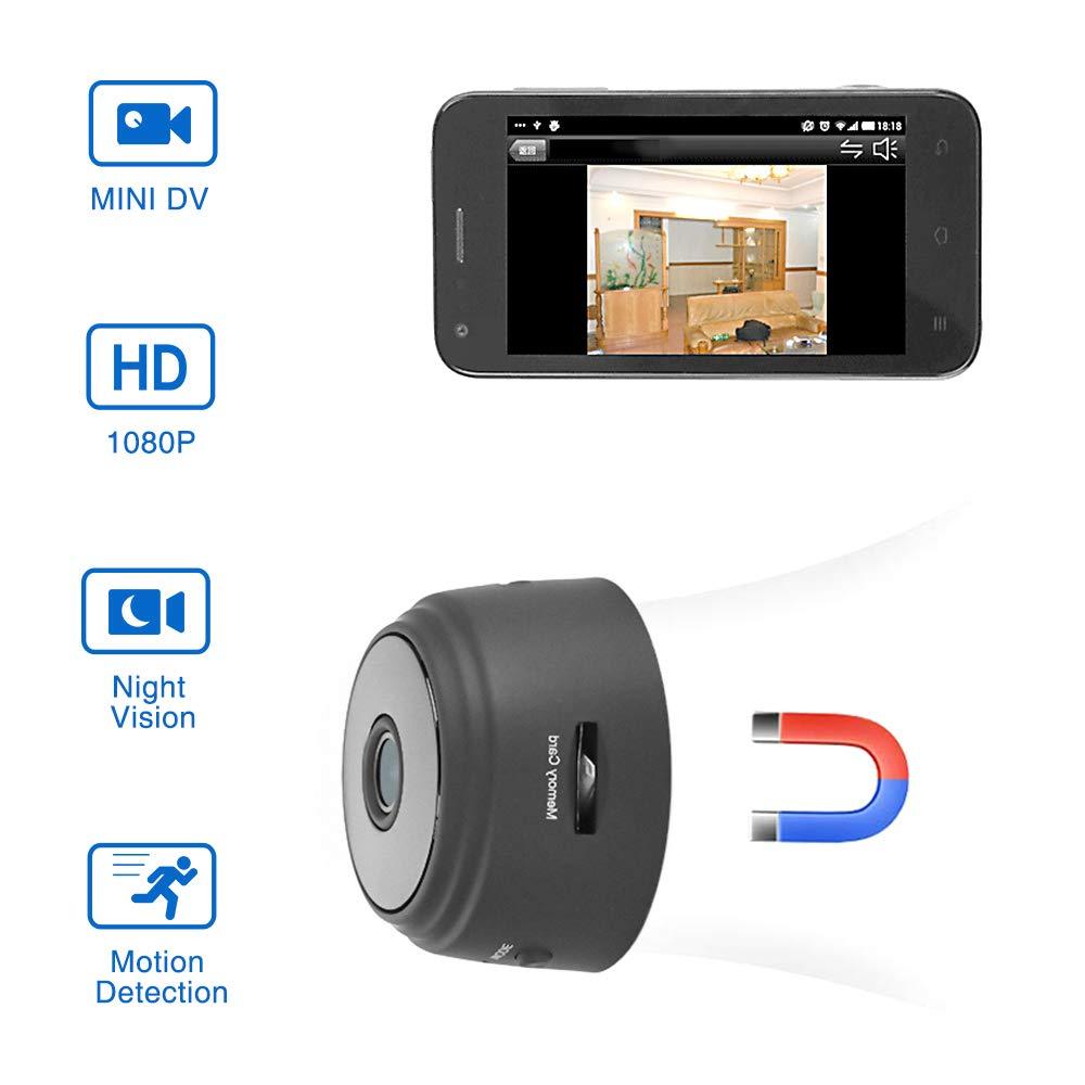 ViFun Mini Hidden Camera HD 1080P Wireless Portable Small Camera with Motion Detection and Night Version WiFi Home Security Cameras Nanny Camera Video Recorder
