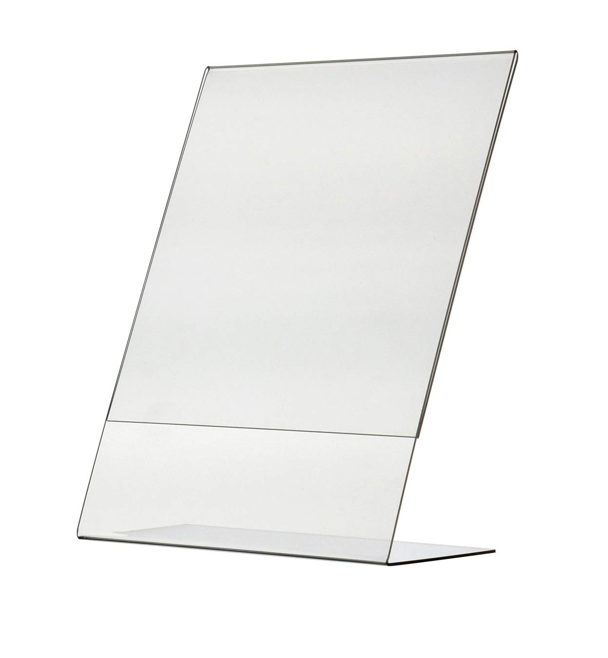 """Marketing Holders Sign Holder 8.5""""w x 11""""h Ad Flyer Frame Display Stand Table Top Slant Back 6 Lots of 10 Totaling 60"""