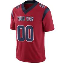 Pullonsy Red Custom Football Jerseys for Men Women Youth Embroidered Team Name and Your Numbers S-8XL Design Your Own