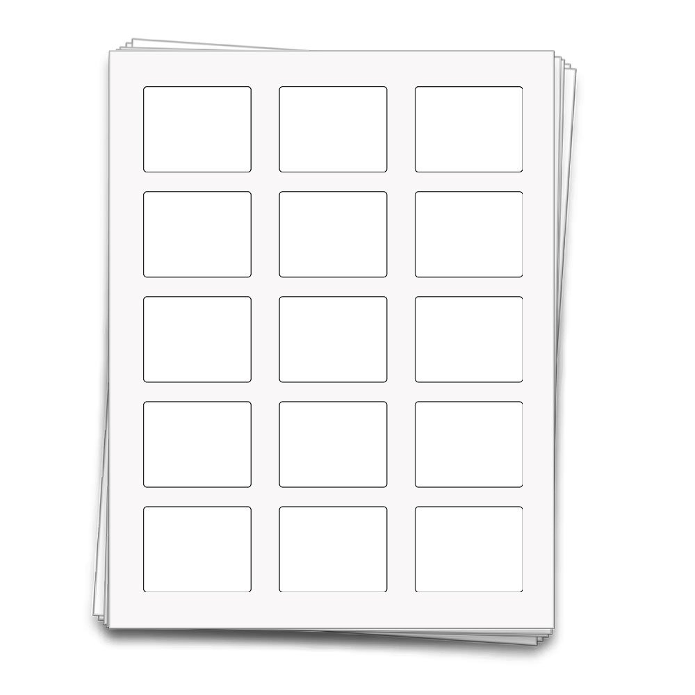 150 Rectangle Labels for 10 ml Roll-on Bottles and Lip Balm Tubes, 2.2 x 1.7 inches (White Waterproof Vinyl (Inkjet))