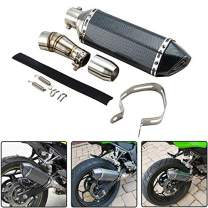 Kemimoto Motorcycle Slip on Exhaust System With Muffler Fits Kawasaki Ninja 250 300 2007 to 2018