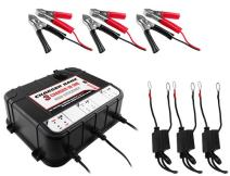 3 Bay 6/12v 2A Float Charger for Auto & Marine Battery