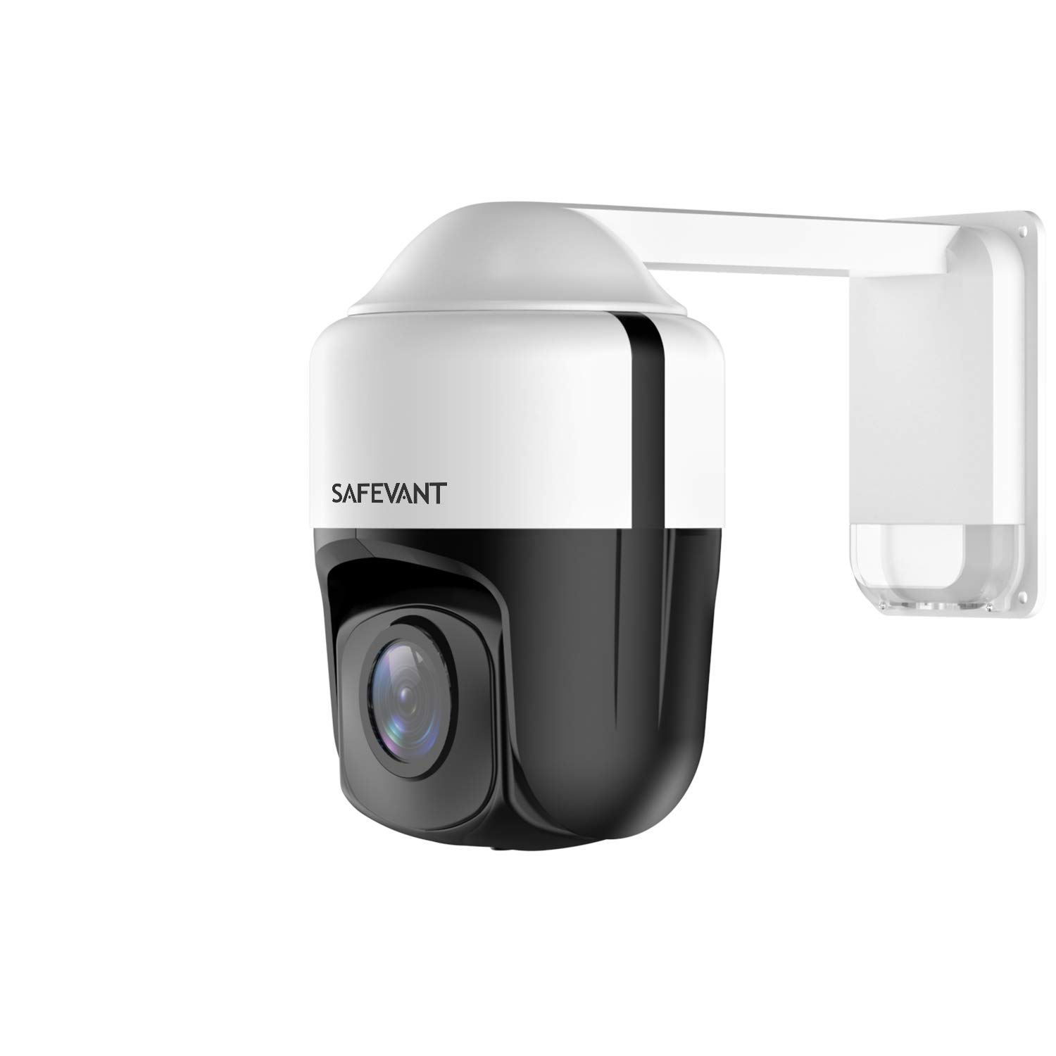 Outdoor PTZ Camera,SAFEVANT 4X Optical Zoom 2MP 1080P IP PoE Cameras Built-in Mic High Speed ONVIF Security PTZ Dome, Auto-Focus and Night Vision