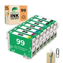 COLORETTO Remanufactured Ink Cartridge Replacement for Epson 99 T099 Used for Artisan 730 810 835(2 Black,1 Cyan,1 Magenta,1 Yellow,1 Light Cyan,1 Light Magenta)(Special Edition Includes 1 Pen Clip)