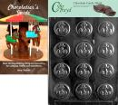 "Cybrtrayd""Anchor Mints"" Nautical Chocolate Candy Mold with Chocolatier's Guide Instructions Book Manual"