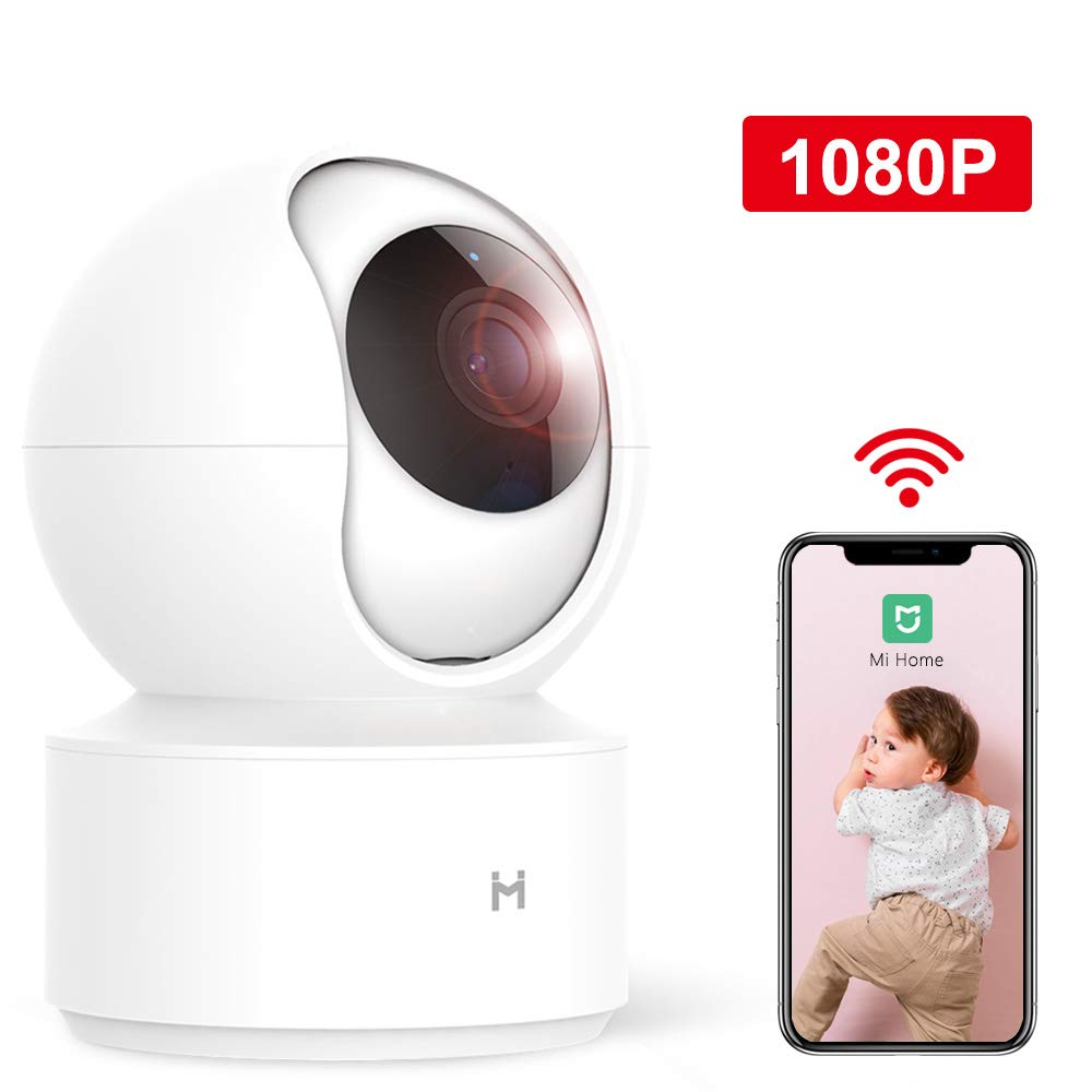 Wireless IP Home Security Camera,xiaomi 1080P Surveillance Smart Mi Camera with Two-Way Audio/4X Zoom,2.4Ghz WiFi Indoor Dome Camera for Pet Baby Elder Monitor,Remote View by IMI(No SD Card)