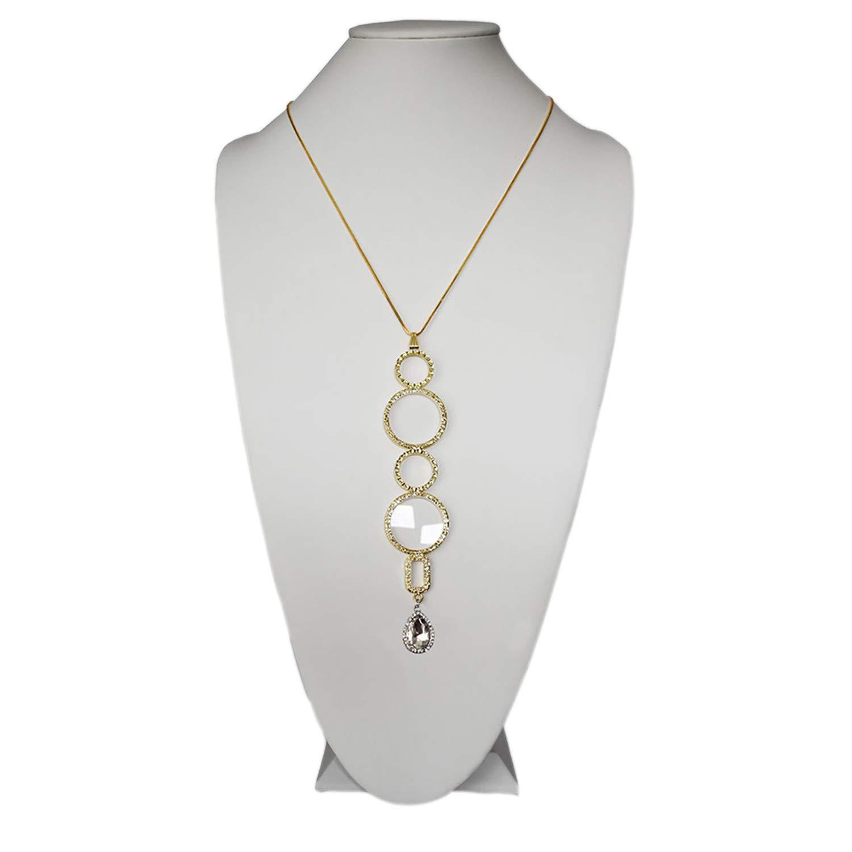Karen Bling, Neckglasses Pendant, Reading Glasses, Convenient, Superior Chain, Discreet, Easy Care - 2.00 - Gold